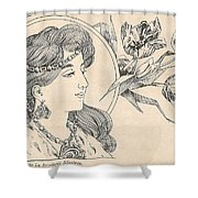 Victorian Lady - 1 Shower Curtain