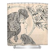 Victorian Lady - 3 Shower Curtain