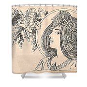 Victorian Lady - 4 Shower Curtain