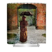 Victorian Lady By Brick Archway Shower Curtain