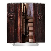 Victorian Lady Descending Stairs Shower Curtain