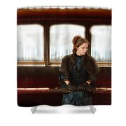 Victorian Lady On Street Car Shower Curtain