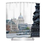 Victorian Lampposts Shower Curtain