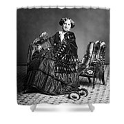 Victorian Woman With Furs C. 1853 Shower Curtain