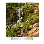 Vidae Falls Landscape Shower Curtain