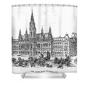 Vienna: City Hall, 1889 Shower Curtain