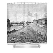 Vienna: Danube, 1821 Shower Curtain
