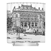 Vienna: Stadtpark, 1889 Shower Curtain