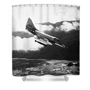 Vietnam War: A4 Skyhawk Shower Curtain