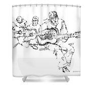 Vietnam War Art-3 Shower Curtain