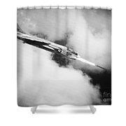 Vietnam War: Crusader Jet Shower Curtain