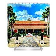 Vietnamese Buddhist Temple Shower Curtain