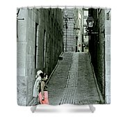Vieux Montreal  Shower Curtain