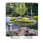 View Across The Pond Shower Curtain