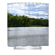View Across The River Shower Curtain