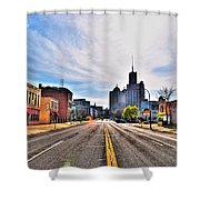 View Down Broadway Into Downtown Buffalo Ny Shower Curtain