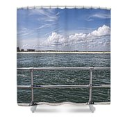 View From Across The Bay Shower Curtain