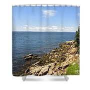 View From Bass Harbor Light Shower Curtain