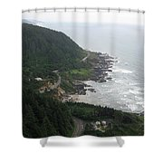 View From Cape Perpetua 2 Shower Curtain