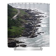 View From Cape Perpetua Shower Curtain