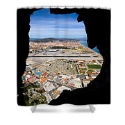 View From Inside Of The Gibraltar Rock Shower Curtain