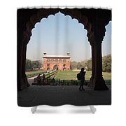 View From Inside The Red Fort With Tourist Shower Curtain