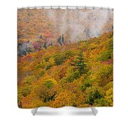 View From North Mountain Look-off Shower Curtain