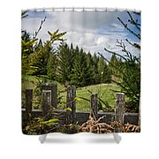 View From Picket Fence Shower Curtain