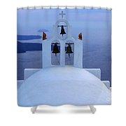 Beauty Of Santorini Greece Shower Curtain