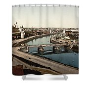 view from St Saviours - Moscow - Russia Shower Curtain