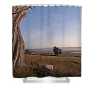 View From Table Bluff Shower Curtain