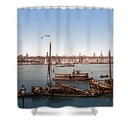 View From The Bastille - Bordeaux - France Ca 1900 Shower Curtain by International  Images
