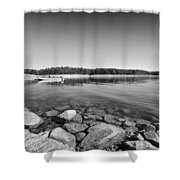 View From The Boat Ramp Shower Curtain