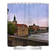 View From The Charles Bridge Revisited Shower Curtain