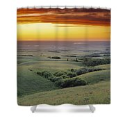 View From The Cypress Hills Shower Curtain