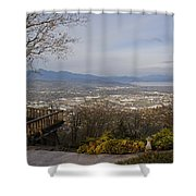 View From The Home On Top Of The Hill Shower Curtain