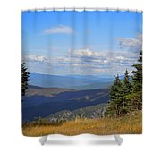 View From Top Of Cannon Mountain Shower Curtain