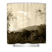 View In The Valley Shower Curtain