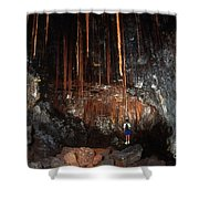 View Inside Kaumana Lava Tube, Hawaii Shower Curtain