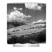 View Into The Mountains Shower Curtain