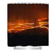 View Of A Forest Fire Near Boise, Idaho Shower Curtain
