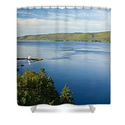 View Of Boulardarie Island From Seal Shower Curtain
