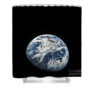 View Of Earth Taken From The Aollo 8 Shower Curtain