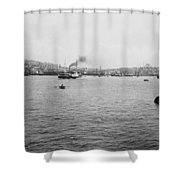 View Of Galata And Istanbul - Between 1880-1893 Shower Curtain