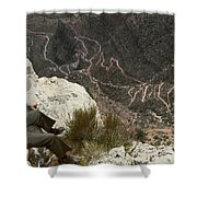 View Of Hiking Trails From High Above Shower Curtain