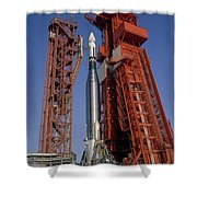 View Of Launch Pad 14 During Prelaunch Shower Curtain