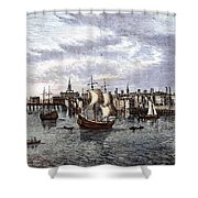 View Of London, 1550 Shower Curtain