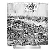 View Of London, 1647 Shower Curtain