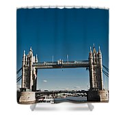 View Of London Bridge From The Thames Shower Curtain