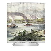 View Of Pittsburgh, 1853 Shower Curtain by Granger